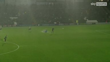 Plymouth's chaotic goal on waterlogged pitch!