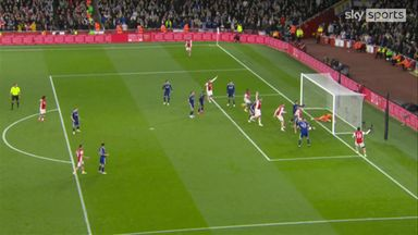 Chambers scores with first touch of the game!