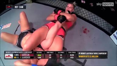 Harrison wins second PFL title by armbar