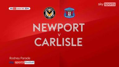 Newport 2-2 Carlisle