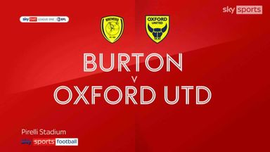 Burton 1-3 Oxford