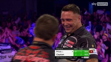 Clayton hits 170 and 164 finishes in successive legs!