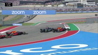 Hamilton's stunning start to overtake Max