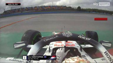 Verstappen executes perfect 360 spin!