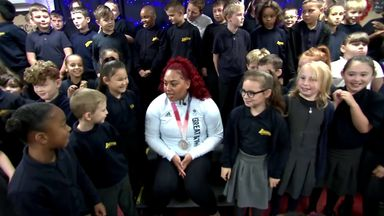Olympic heroine Emily Campbell returns to her old school