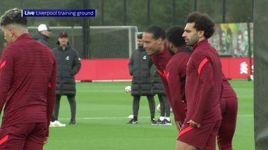 Liverpool train ahead of Man Utd clash
