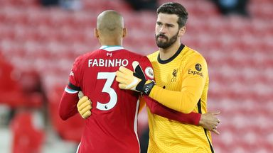 Fabinho: Alisson and I may miss Watford game