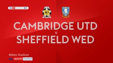 Cambridge Utd  1-1 Sheff Wed