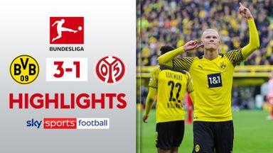 Haaland scores two as Dortmund beat Mainz
