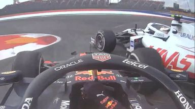 Perez collides with Schumacher