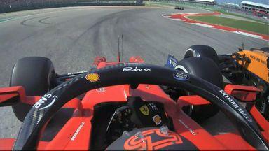 Sainz and Ricciardo make contact