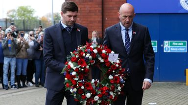 Rangers lay wreaths at Ibrox for Walter Smith