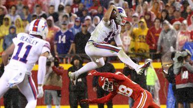 Jumping Josh! Allen hurdles defender!