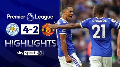 Leicester hit four to end Man Utd's away run