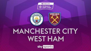WSL: Man City 0-2 West Ham