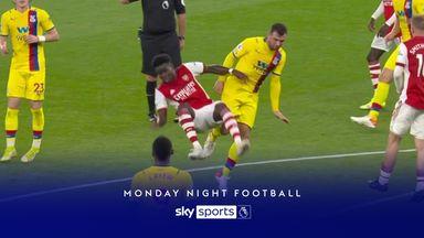 Should McArthur have seen red for kick on Saka?