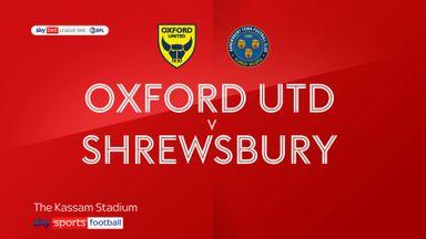 Oxford Utd 2-0 Shrewsbury