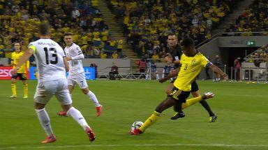 Isak scores wonder goal for Sweden