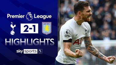 Tottenham beat Villa to end losing run