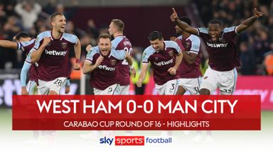 West Ham 0-0 Man City (5-3 pens)