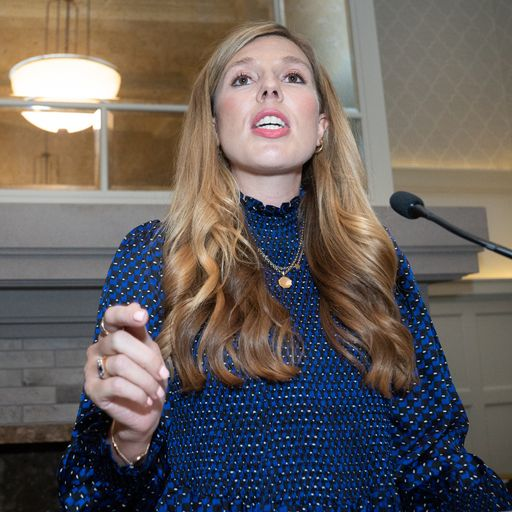 Carrie Johnson 'moved to tears' by hate crime victim as she speaks at LGBT+ reception