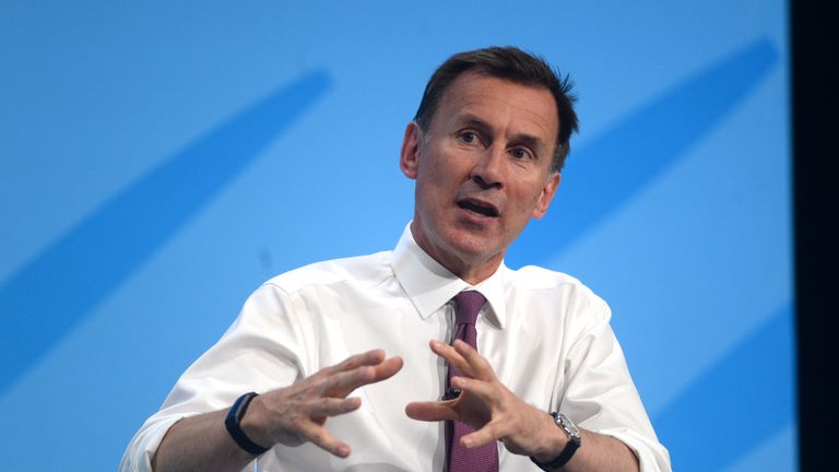 """File photo dated 17/7/2019 of former health secretary Jeremy Hunt who has warned that the UK is facing a """"now or never"""" moment to fix the social care system. Issue date: Saturday June 26, 2021."""