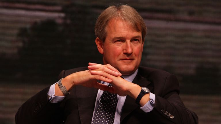Shadow Secretary of State for Northern Ireland, Owen Paterson during the Conservative Party Conference in Manchester.