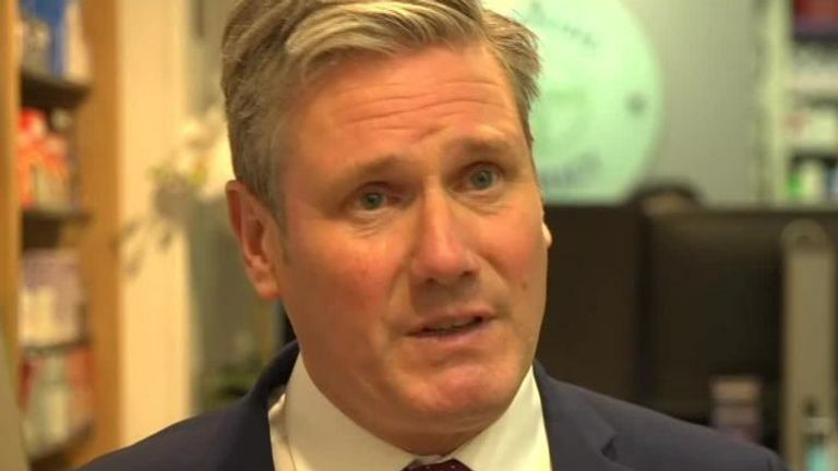 Sir Keir Starmer was asked about his opinion on the current COVID situation in the UK