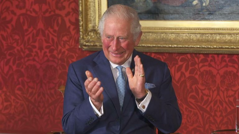 Prince Charles was left teary eyed following the speech