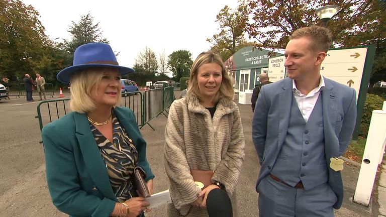 Cheltenham Festival-goers talk to Sky News about COVID rules.