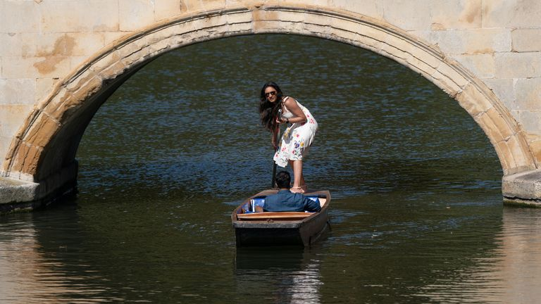 People make the most of the hot weather as they enjoy punt tours along the River Cam in Cambridge. Picture date: Wednesday September 8, 2021.