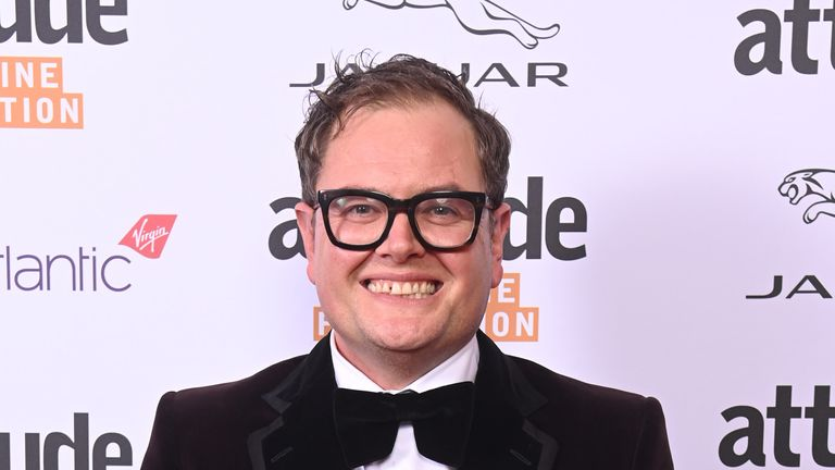 Alan Carr joined the event