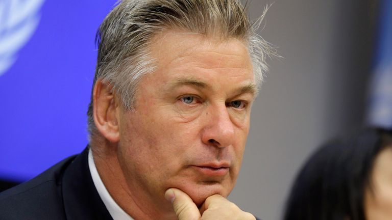 PIC:AP FILE - In this Seopt. 21, 2015 file photo, actor Alec Baldwin attends a news conference at United Nations headquarters. A prop firearm discharged by veteran actor Alec Baldwin, who is starring and producing a Western movie, killed his director of photography and injured the director Thursday, Oct. 21, 2021 at the movie set outside Santa Fe, N.M., the Santa Fe County Sheriff...s Office said. (AP Photo/Seth Wenig)