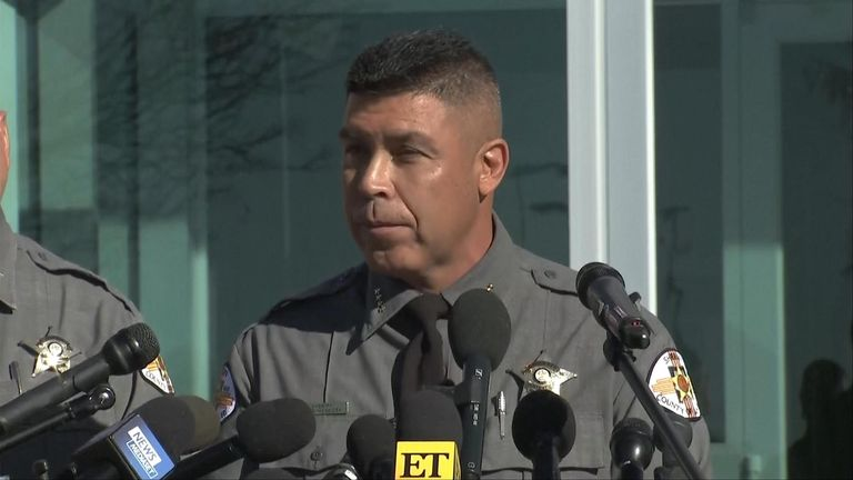 Santa Fe County Sheriff Adan Mendoza said the projectile recovered is suspected to be a live round.