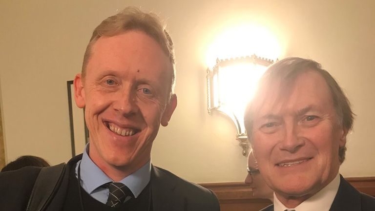 David Stanley, founder of the Music Man Project and Sir David Amess