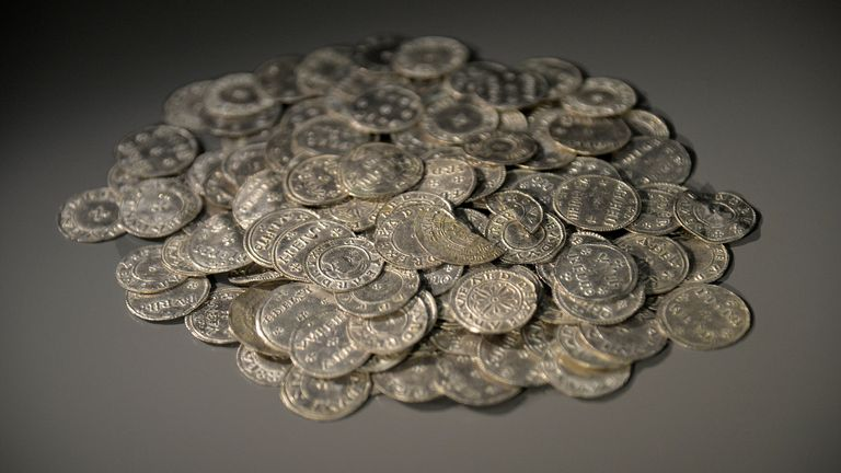 Anglo Saxon and Anglo Viking coins at the British Museum. File pic