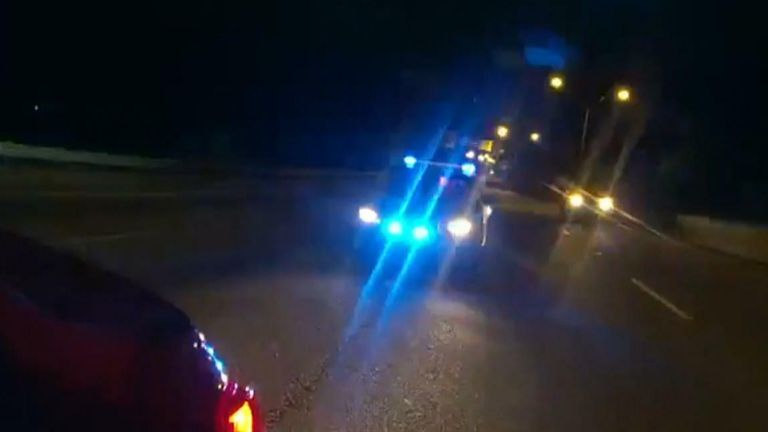 Bodycam Shows Moment Driver Plows Into Police Vehicle, Injuring Officer