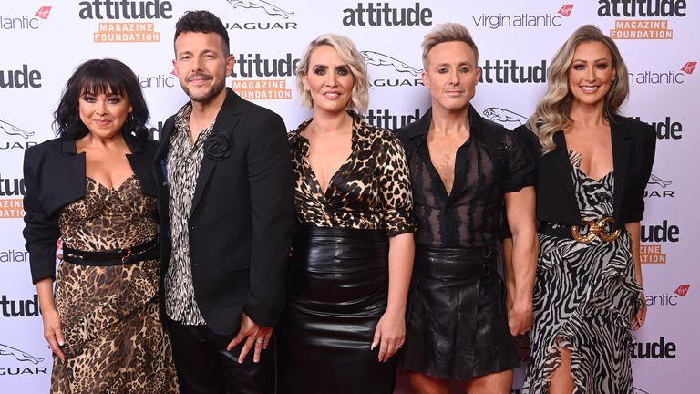 Lisa Scott Lee, Lee Latchford Evans, Claire Richards, Ian H Watkins and Faye Tozer of Steps attending the Virgin Atlantic Attitude Awards