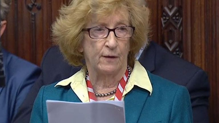 Broness Meacher reads statement from Lord Field on assisted dying