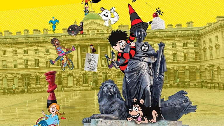 Beano: The Art Of Breaking The Rules exhibition is on at Somerset House. Pic: Beano