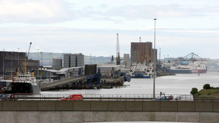 Belfast Port in Belfast city centre