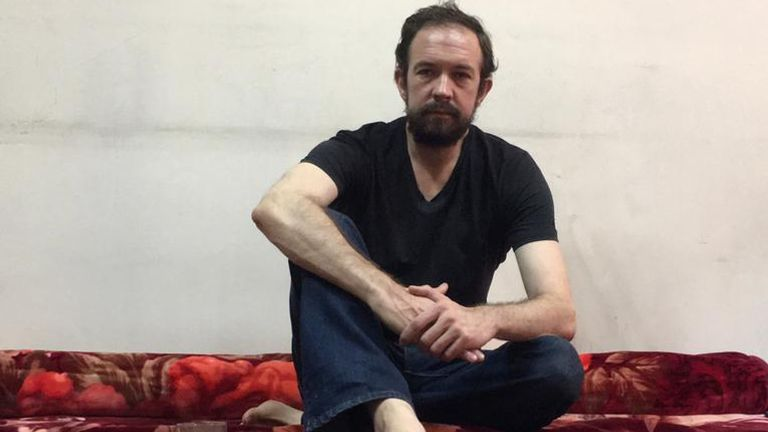 """Ben Slater was captured by the Taliban last month. After two weeks in a """"dire"""" jail he was moved to better conditions"""