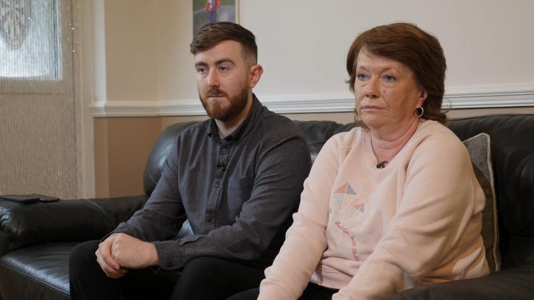 Mr Hood's mother Breda Guckion and brother Alex Hood were speaking to Sky News when he phoned from Dubai.