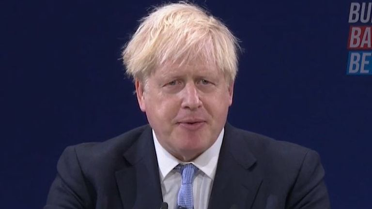 Boris Johnson says his government will do what others haven't had the guts to do