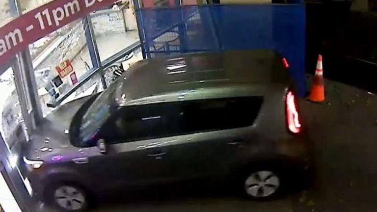 Suspected drug driver crashes into shop in British Columbia
