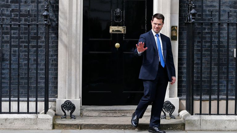 Britain's new Northern Ireland Secretary, James Brokenshire, leaves Number 10 Downing Street in London, Britain July 14, 2016.      REUTERS/Neil Hall