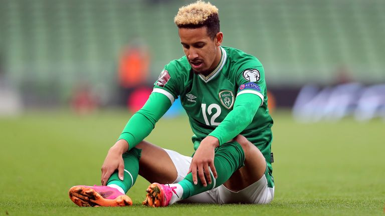 Callum Robinson, 26, has had the virus twice but said ahead of Republic of Ireland's match on Saturday that he has chosen not to take the vaccine