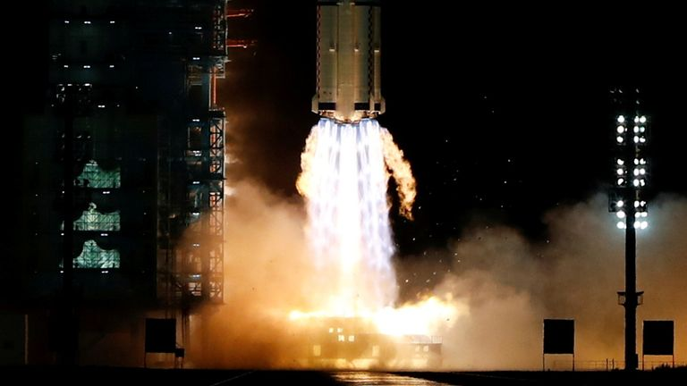 A Long March-2F Y13 rocket, carrying the Shenzhou-13 spacecraft, was launched at the weekend - China is said to have tested its hypersonic weapon in August