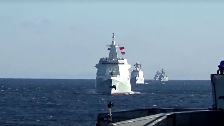 Russia and China naval patrol