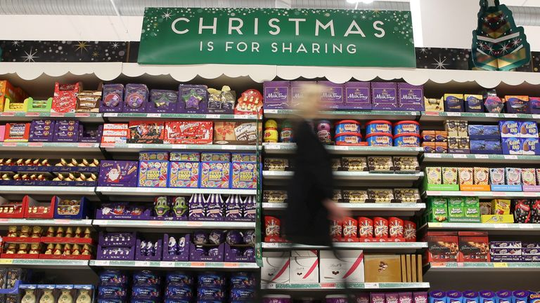 FILE PHOTO: A woman shops at a Sainsbury's store in London, in this file photograph dated December 3, 2015. British supermarket Sainsbury's was the best performer of the industry's major players over the key Christmas trading period, data showed on January 12, 2016. REUTERS/Neil Hall/files/File Photo